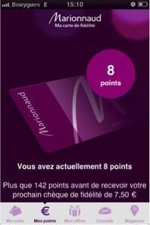 Premium Beauty News - Marionnaud transforme sa carte de fidélité en application mobile | Carte de fidélité mobile | Scoop.it