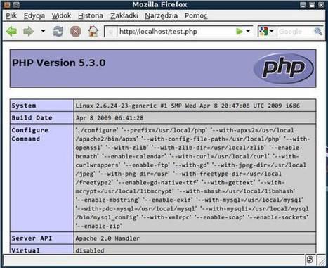 Instalacja PHP w systemach Linux i Windows | Instalacja i konfiguracja FTP, WWW, MySQL, php Przybylska | Scoop.it