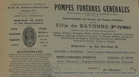 Retours vers les Basses-Pyrénées: Cahier des charges du service des pompes funèbres à Bayonne | GenealoNet | Scoop.it