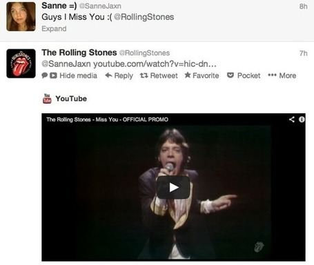 How The Rolling Stones use Facebook, Twitter, Pinterest and Google+ | Everything Pinterest | Scoop.it