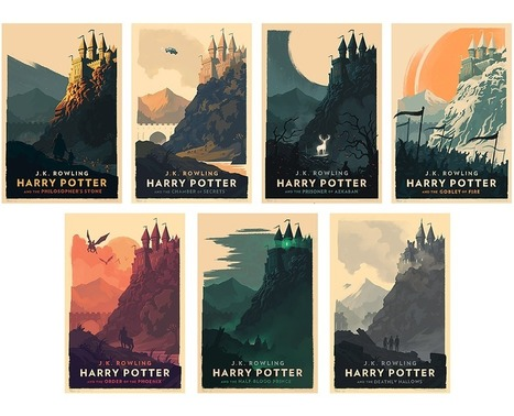 New Harry Potter Art Prints and Covers by Olly Moss for German Audio Books | Artdictive Habits : Sustainable Lifestyle | Scoop.it