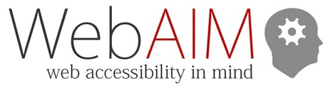 WebAIM: Web Accessibility In Mind | Universal Design for Learning | Scoop.it