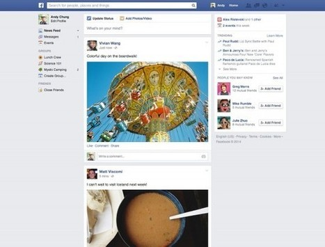 Facebook déploie une nouvelle version de son fil d'actualité | INFORMATIQUE 2014 | Scoop.it