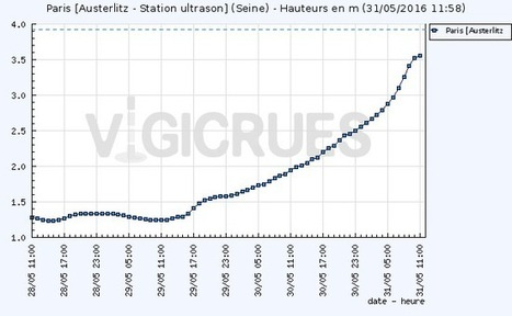 Vigicrues : Station Paris [Austerlitz - Station ultrason]   TRANSITURUM   Scoop.it