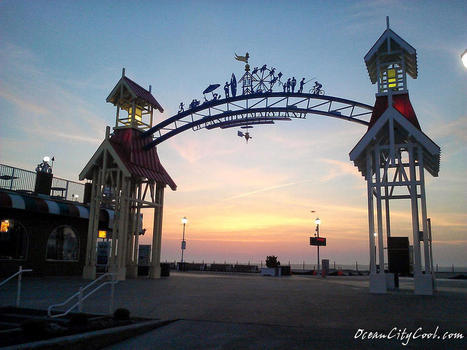 Sunrise At The Ocean City Arch by Robert Banach | Ocean City Cool | Scoop.it