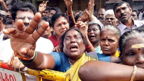 Commotion outside Apollo Hospitals after TV report says Jayalalithaa dead | NewsX | Scoop.it