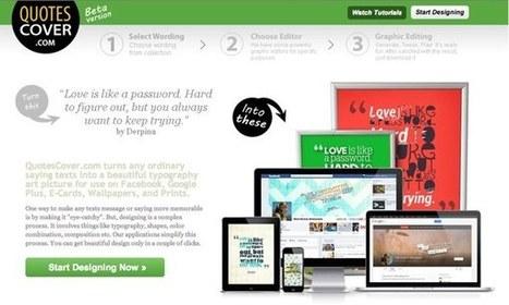 Los 5 mejores herramientas online para crear bellas imágenes con frases | Herramientas para objetos de aprendizaje | Scoop.it