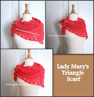 Posh Pooch Designs Dog Clothes: Downton Abbey Yarn Review and Lady Mary's Triangle Scarf Crochet Pattern | Posh Pooch Designs | Crochet | Scoop.it
