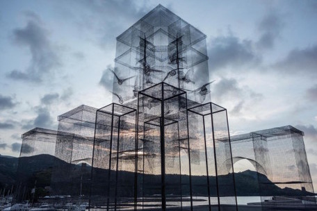Incipit is a wire mesh sculpture by the sea that looks totally unreal   Historia del Arte. Art History   Scoop.it