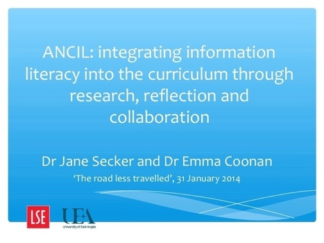 ANCIL: integrating information literacy into th... | information literacy | Scoop.it
