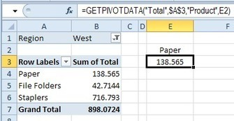 Excel Pivot Table Tutorial -- GetPivotData | FrankensTeam's Excel Collection | Scoop.it