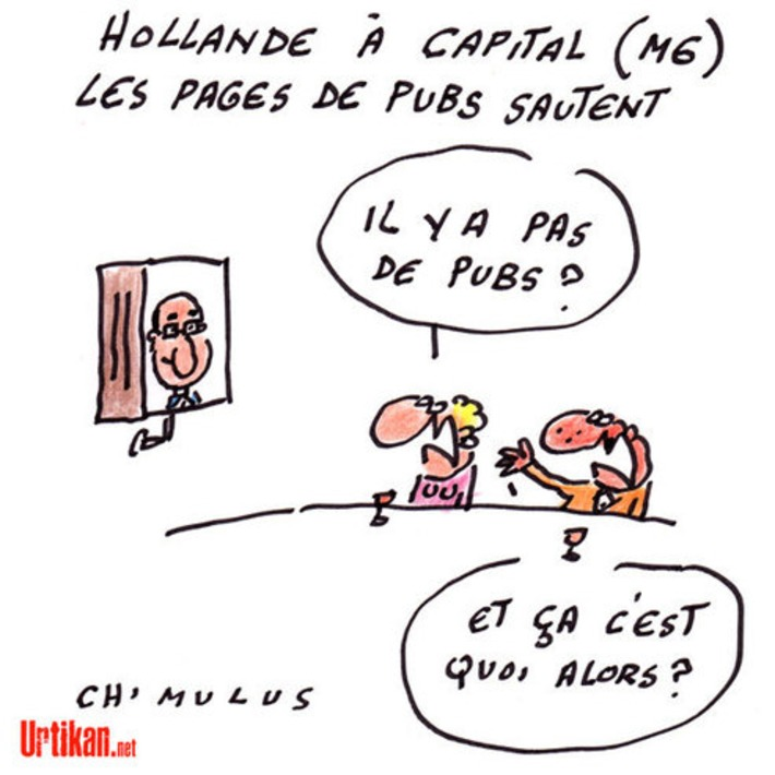 Pas de Pub sur M6 pour le Président François Hollande | Baie d'humour | Scoop.it