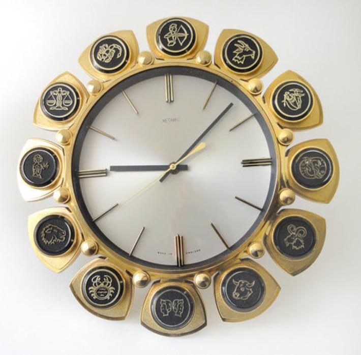Mod Horoscope Wall Clock | Kitsch | Scoop.it
