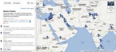 Mapa de Protestas en el Mundo por Vídeo sobre Mahoma ~ Geomática | #GoogleMaps | Scoop.it