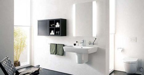 Salle de bains : le bon éclairage - CôtéMaison.fr   Accessoires salle de bains   Scoop.it