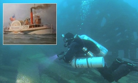 Shipwreck hunter finds mysterious 1861 steamer at the bottom of Lake Huron ... - Daily Mail | plongee scuba diving tec diving | Scoop.it