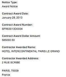 US Vice-President Biden's One-Night Paris Hotel bill: $585,000.50   Les stats de Mirem !   Scoop.it