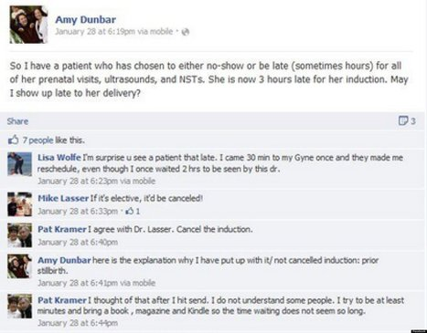 PHOTO: OB-GYN Posts Controversial Remark About Patient On Facebook | Radio Show Contents | Scoop.it