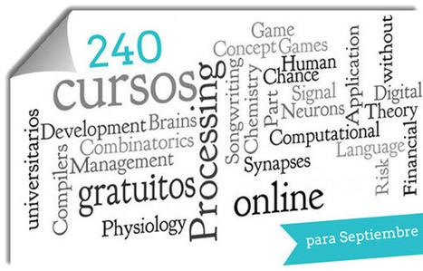 240 cursos universitarios, online y gratuitos que inician en septiembre | Aprendiendo a Distancia | Scoop.it