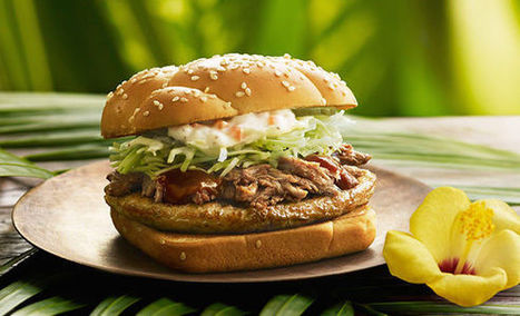 Tropical Hawaiian Burgers - McDonald's Menu in Japan Now Includes Hawaiian Burgers (TrendHunter.com) | Urban eating | Scoop.it