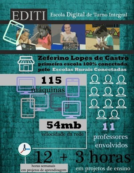 Infográfico EDIT - dados sobre a Escola Laboratório | Escola Laboratório e outras experiências em áreas rurais | Scoop.it