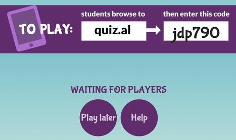 Quizalize : créer un questionnaire ludique pour les élèves | Innovations pédagogiques | Scoop.it