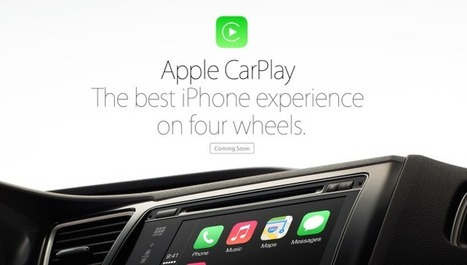 Apple rebrands iOS in the Car as CarPlay, compatible vehicles launching later this year | Voiture Connectée | Scoop.it