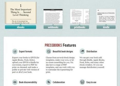 Pressbook, para crear libros electrónicos, será de código abierto   crear ebooks   Scoop.it