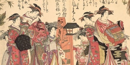 Miroir de la calligraphie des nouvelles beautés de Kitao Masanobu   estampes  japonaises   Scoop.it