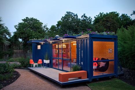 Recycled Shipping Container Guest House in Texas | HiConsumption | Small Spaces | Scoop.it
