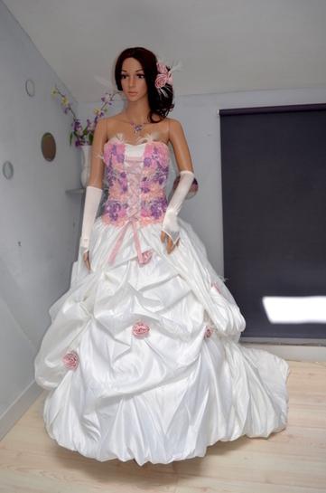 Robe de mariée pas cher en taffeta dente...
