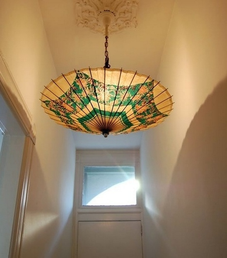 DIY Parasol Hanging Lamp | DIY Craft Ideas For The Home | Scoop.it