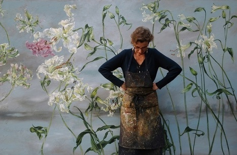 homes of artists and their studios – the home, studio and art of French large scale flower artist Claire Basler | The Landscape Café | Scoop.it