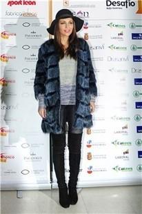 Paula Echevarría con pieles y pamela en el Desafío solidario en León | lll Desafío Solidario (14 Diciembre 2013) | Scoop.it