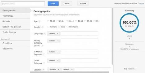 How to create custom segments in Google Analytics | WordPress Website Optimization | Scoop.it