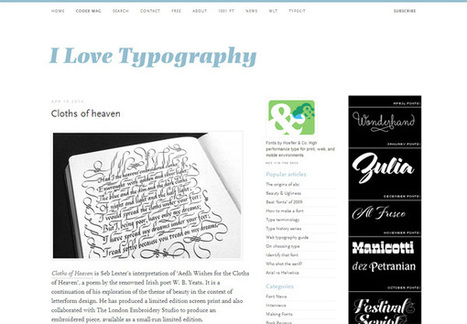 13 Excellent Typography Blogs to Read | Website Typography | Scoop.it