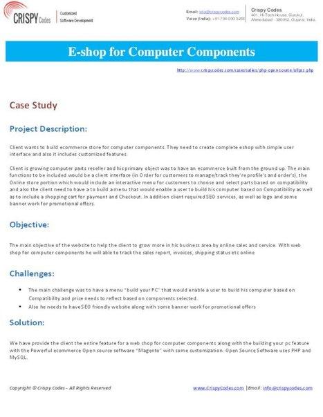 E-shop for Computer Components | Hi-Tech ITO(Offshore Software Development Company) | Scoop.it