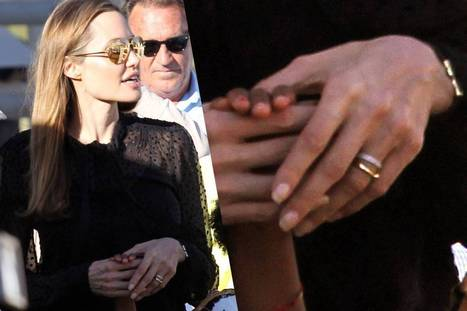 Angelina is wearing two wedding bands / Angelina con dos anillos ... | Alexa SHdez | Scoop.it