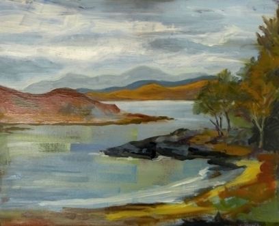 Artwork: Port Righ, Carradale, Argyll - Open House Art | Art - Crafts - Design | Scoop.it