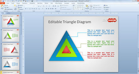 Free Editable Triangle Diagram for PowerPoint | Diagrams | Scoop.it
