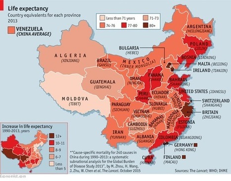 Life expectancy in parts of China exceeds the US. How does your country compare?   Epic pics   Scoop.it