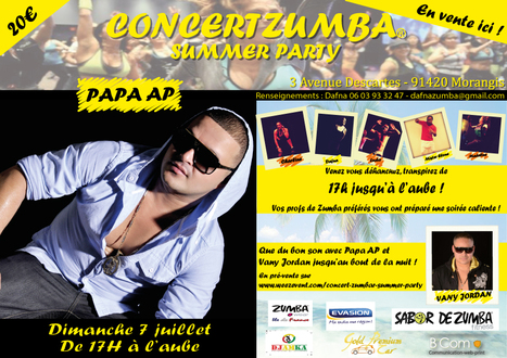 Billetterie : CONCERT ZUMBA(R) SUMMER PARTY | Entreprises 91 | Scoop.it