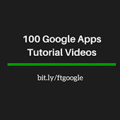 Free Technology for Teachers: 100 Google Apps Tutorial Videos | RED.ED.TIC | Scoop.it