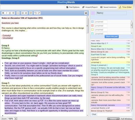 MeetingWords. Outil gratuit pour écrire un texte à plusieurs | com digitale | Scoop.it