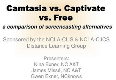 Camtasia versus Captivate versus Free: Comparing Screencasting (Slideshare presentation) | Screencasting & Flipping for Online Learning | Scoop.it