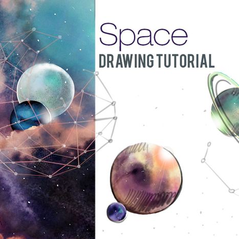How to Draw Outer Space With PicsArt's Drawing Tools | Drawing and Painting Tutorials | Scoop.it