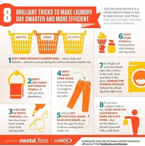 8 Laundry Hacks {Infographic} - Best Infographics   Digital-News on Scoop.it today   Scoop.it