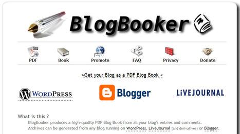 Blogger ou WordPress : Comment transformer son blog en livre PDF ? | Time to Learn | Scoop.it