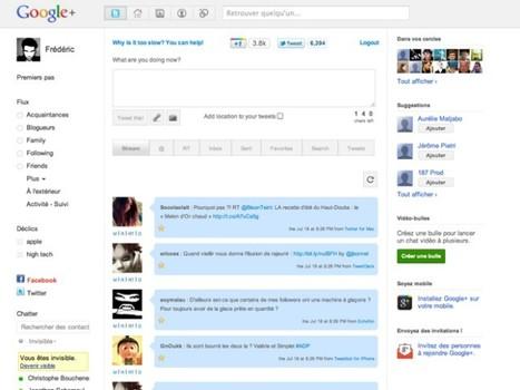 Utiliser Twitter et Facebook dans Google+ ! | SocialWebBusiness | Scoop.it