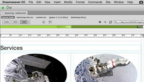 Inserting a Navigation Bar with Bootstrap and Dreamweaver CC 2015 - Web Design and Development | Front End Development | Scoop.it